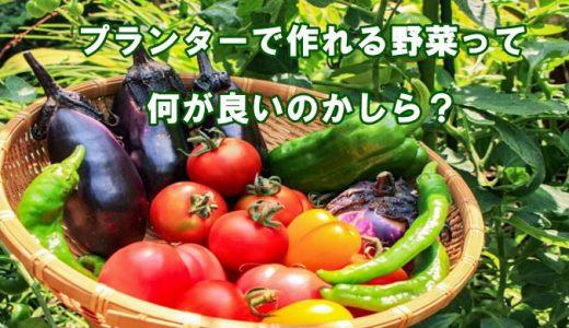 プランターで出来る野菜って何があるの?