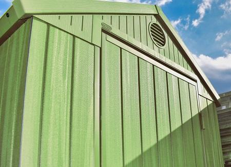 セージグリーン色の倉庫