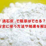 「消石灰」で除草はできる?安全に使う方法や効果を解説