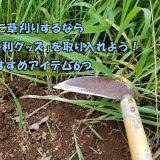 楽に草刈りするなら「便利グッズ」を取り入れよう!外構業者もビックリおすすめアイテム6つ