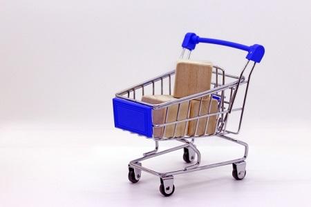 買い物カゴのミニチュア