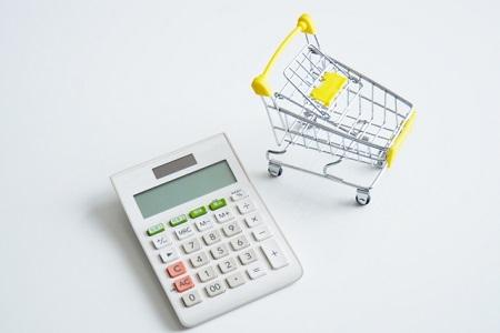 ショッピングカートと電卓